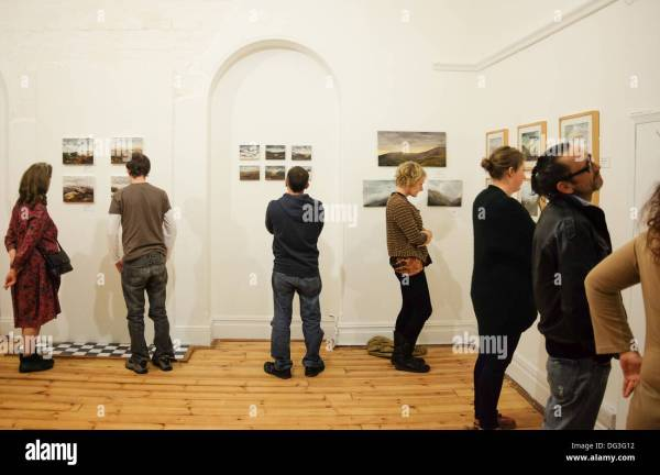 People Looking at Art