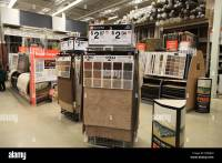 Flooring carpet samples on display in The Home Depot ...