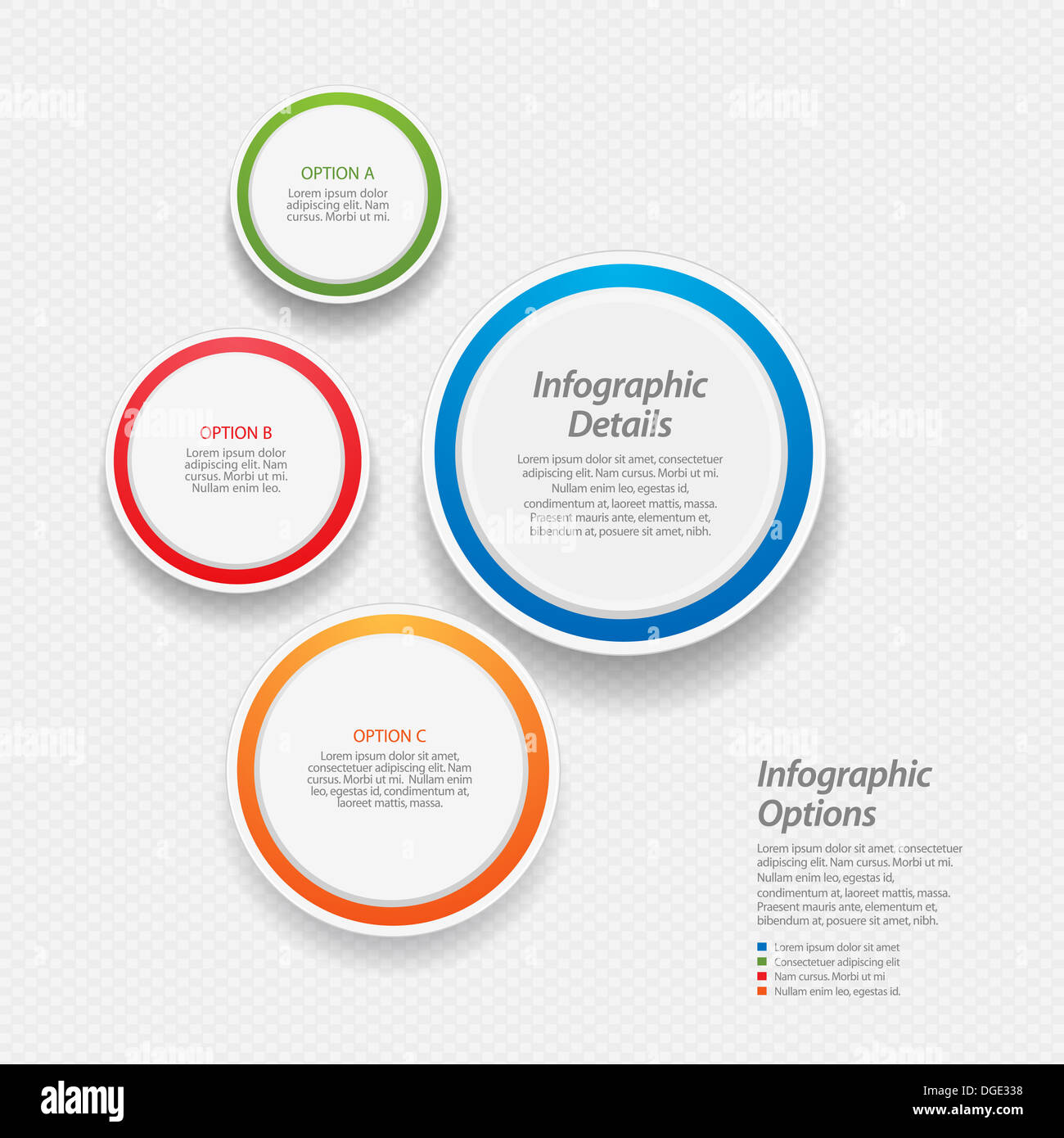 hight resolution of 3d circular infographic background with sample text