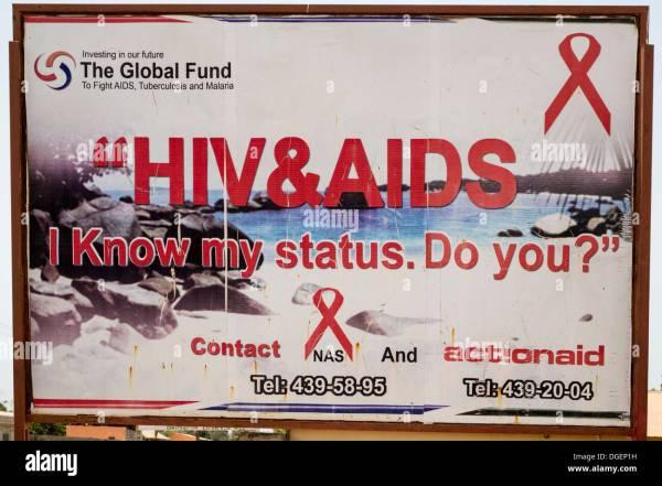 Aids Billboard Hiv Stock &