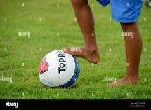 Barefoot Soccer Boy