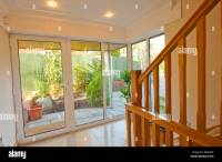 Double Glazed Glass House front Door Vestibule Stock Photo ...