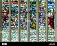 Stained-glass windows, First Church of Otago, a ...