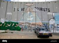 Wall with graffiti, Palestinian side, between Bethlehem ...