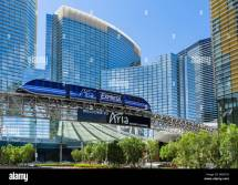 Aria Express Monorail In Front Of Resort And
