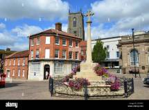 War Memorial In Market Place Fakenham Norfolk England
