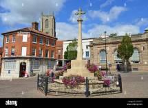 War Memorial In Market Place Fakenham Norfolk England