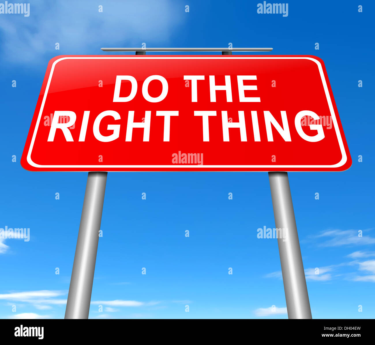 Do The Right Thing Concept Stock Photo Royalty Free Image