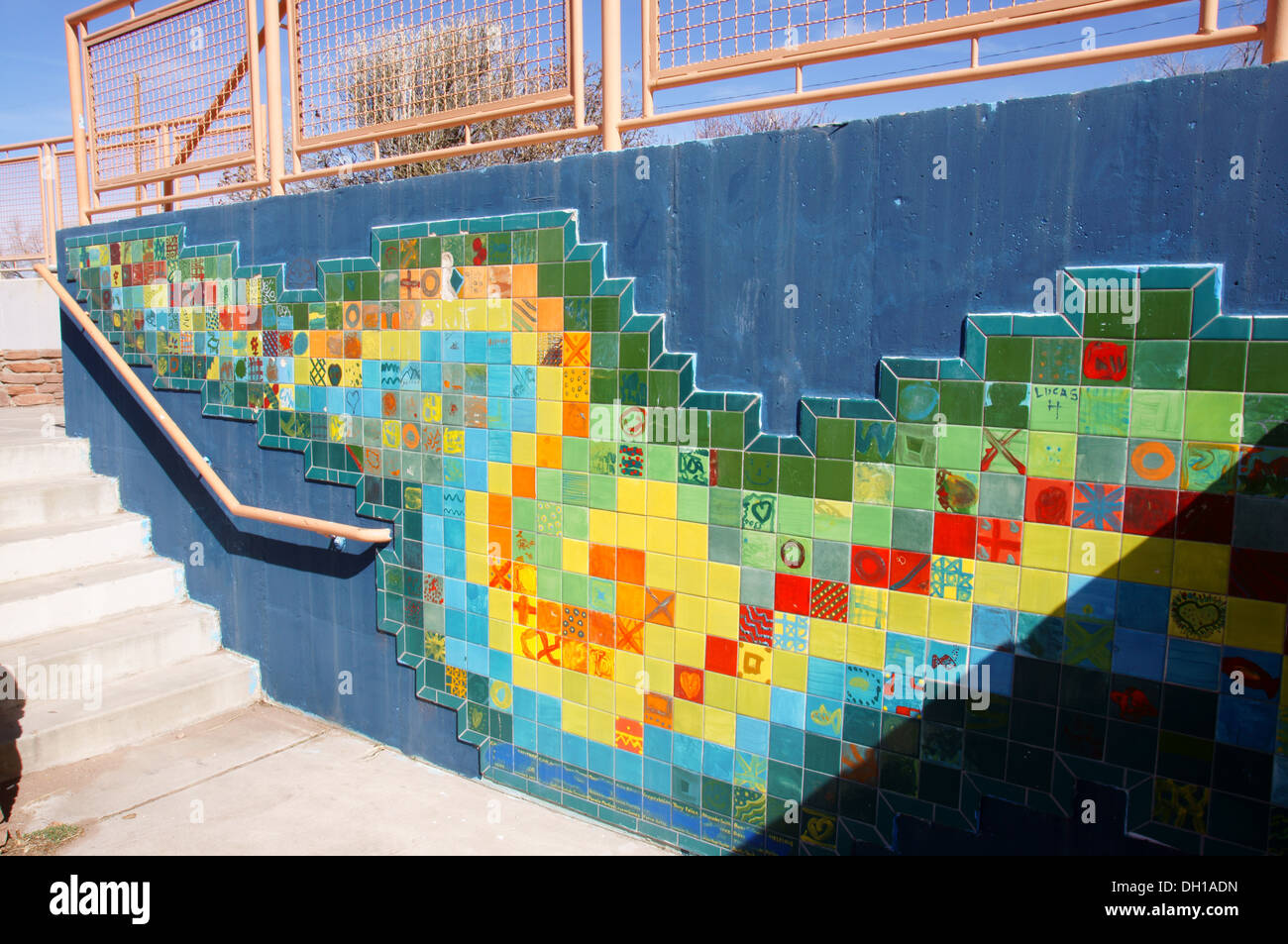 https www alamy com walkway stairs tiles colors colorful alto bicentennial walking park image62110433 html