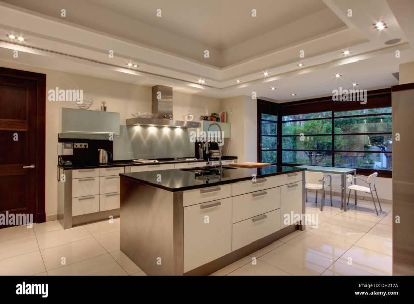 kitchen false ceiling design. Down Lighting On False Ceiling In Modern Spanish Kitchen With For  www energywarden net