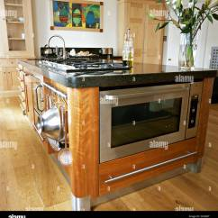 Kitchen Island With Oven Tuscan Ideas Stainless Steel And Integral Hob In Central