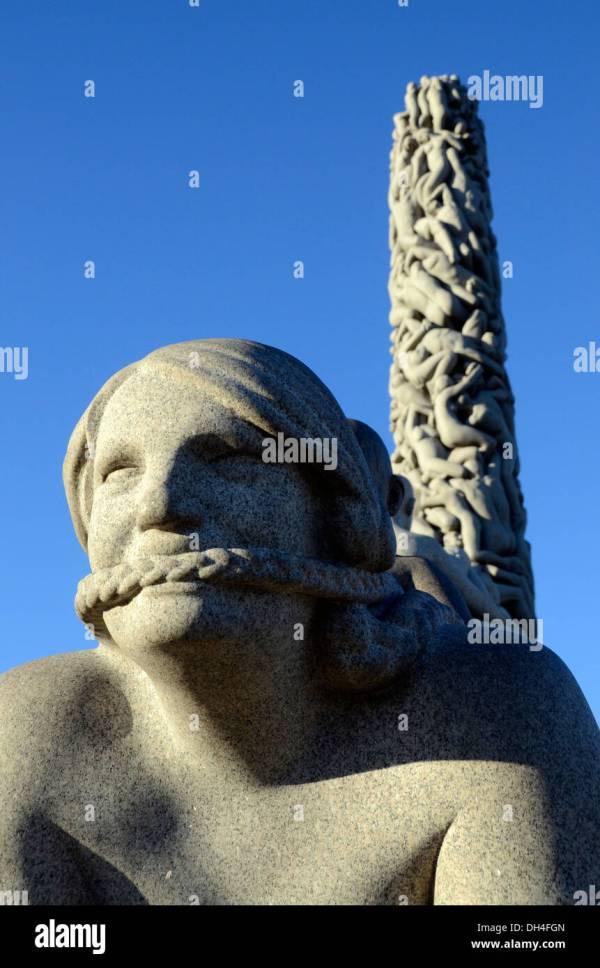 Monolith Vigeland Sculpture Park Granite Sculptures