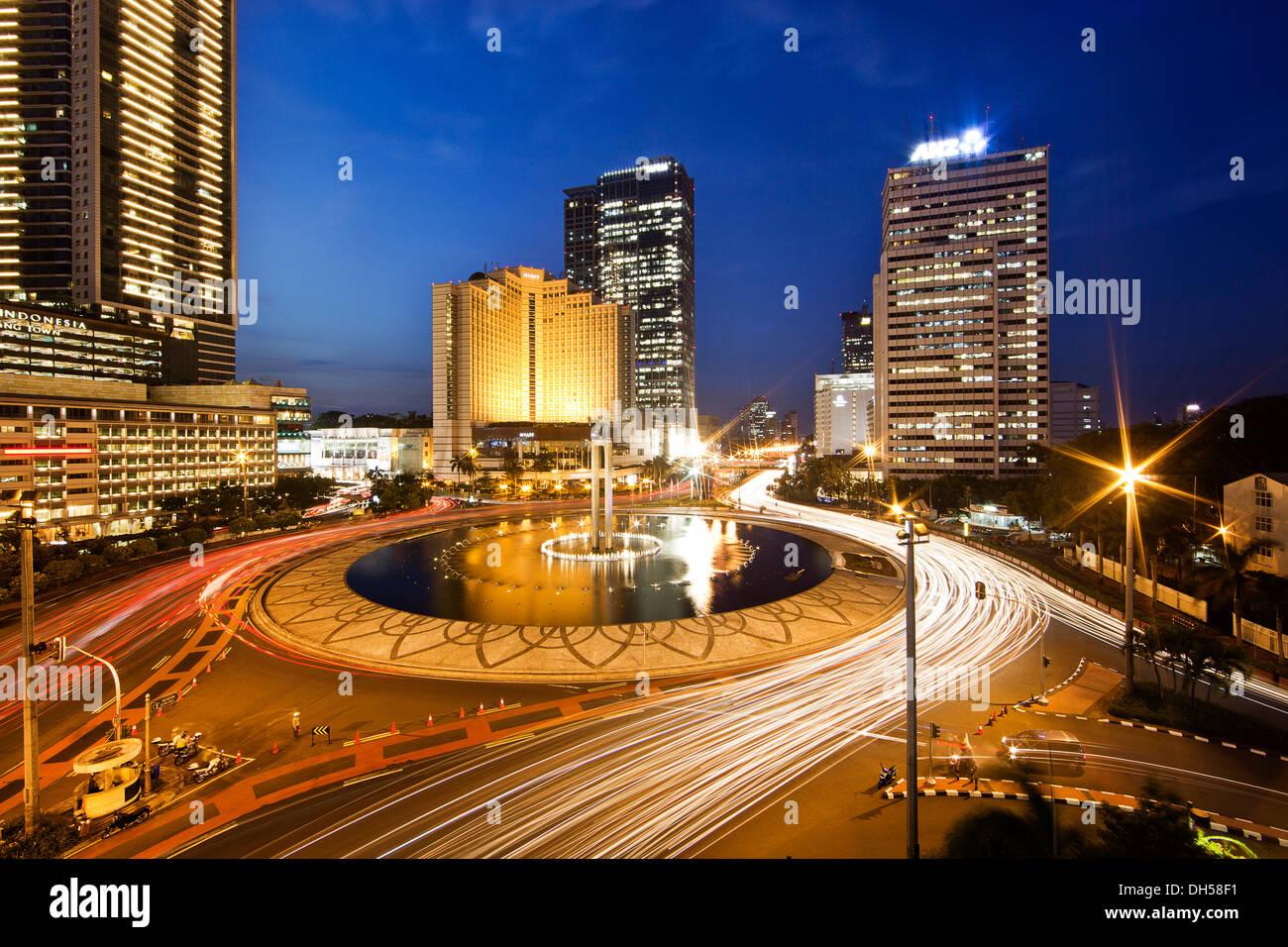 Skyline Of Jakarta With The Grand Hyatt Jakarta Hotel