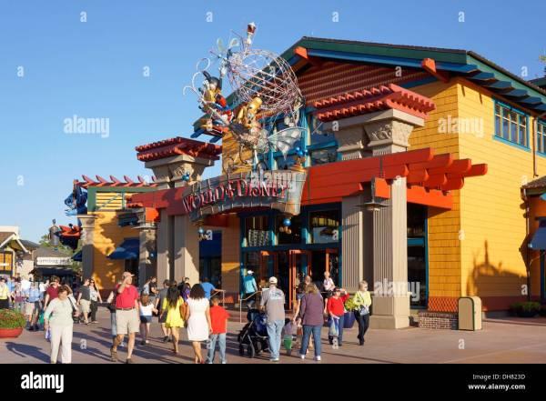 World Of Disney Store Downtown Resort Orlando Stock Royalty Free