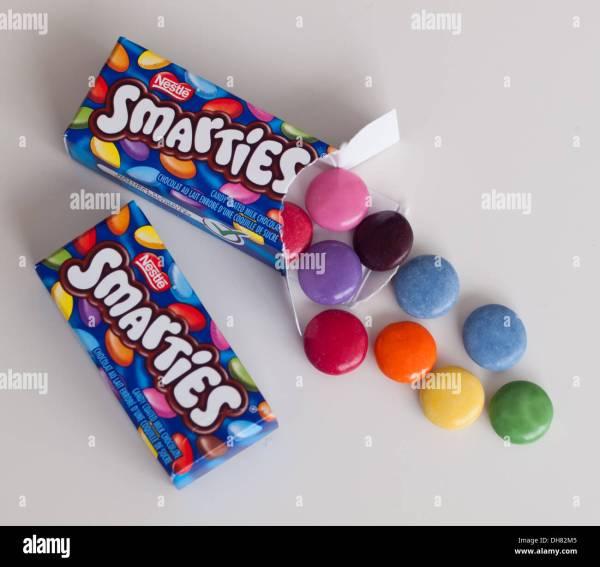 Smarties Box Stock & - Alamy