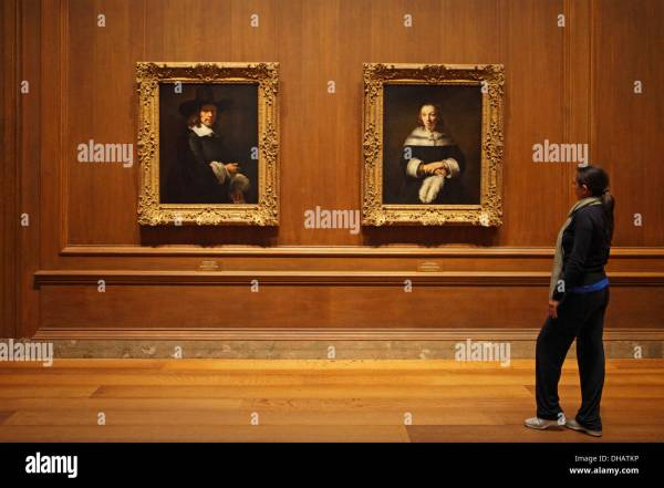 Girl Watching Rembrandt' Paintings National Of