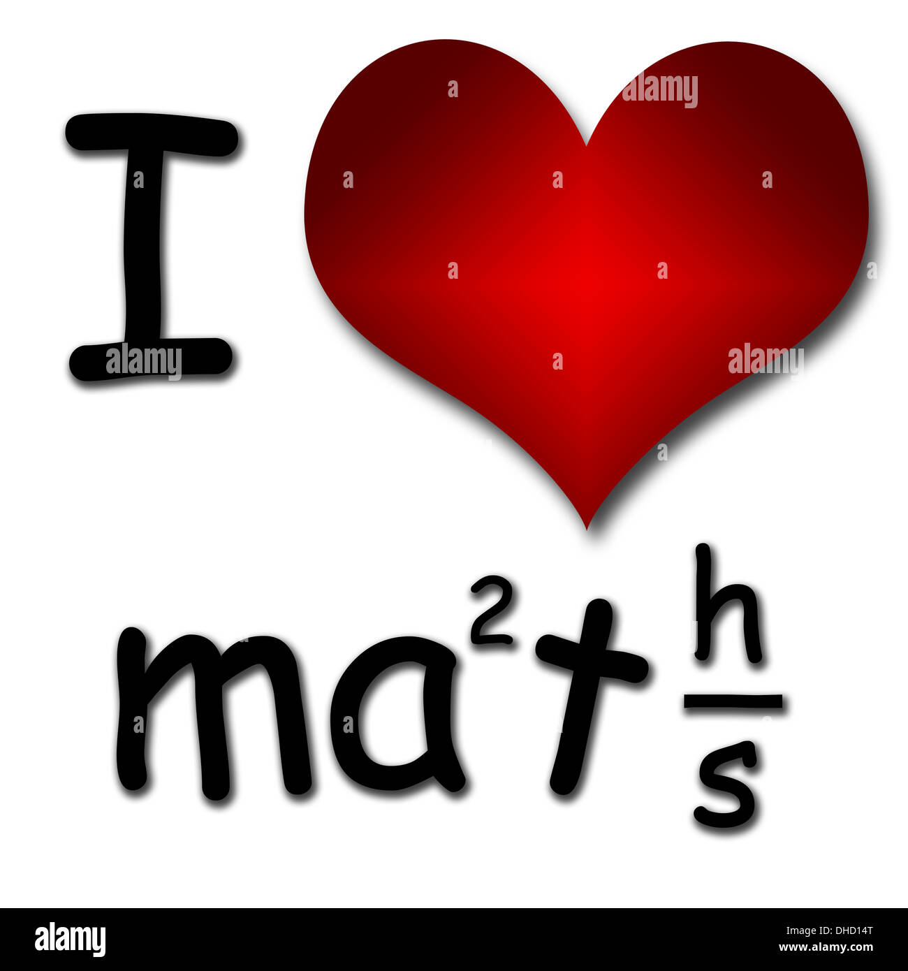 I Love Maths Funny Concept Of Heart And Inscription Or