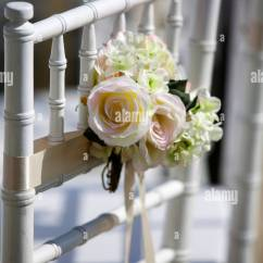 Wedding Decorations Chairs Receptions Kids Metal Chair Decoration Flower Rose White Pink Reception Tie Tied Small Elegant Beauty Beautiful Decorative Fresh Refresh Honor