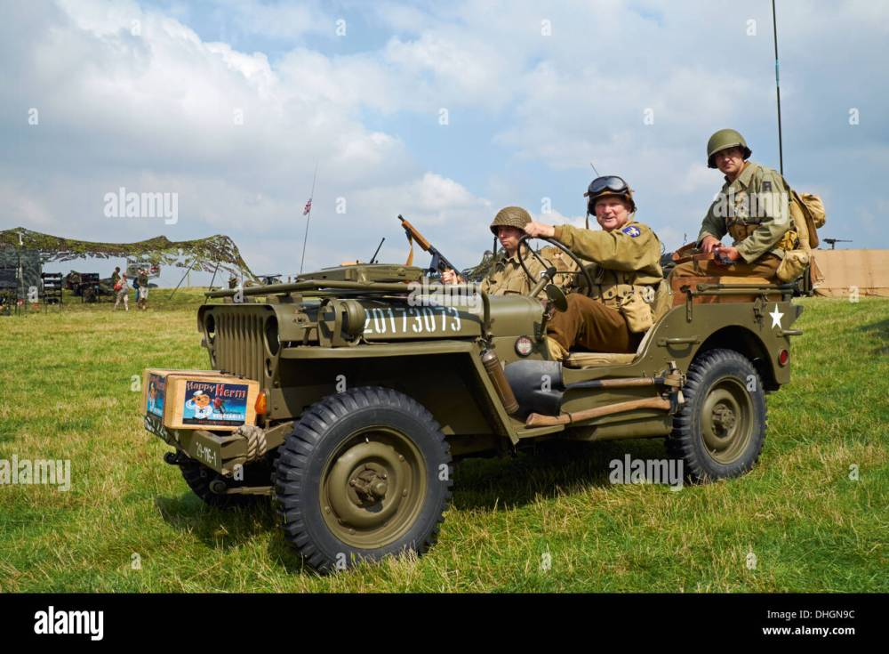 medium resolution of men posing in ww2 us army uniforms in a 1943 willys mb jeep rauceby war