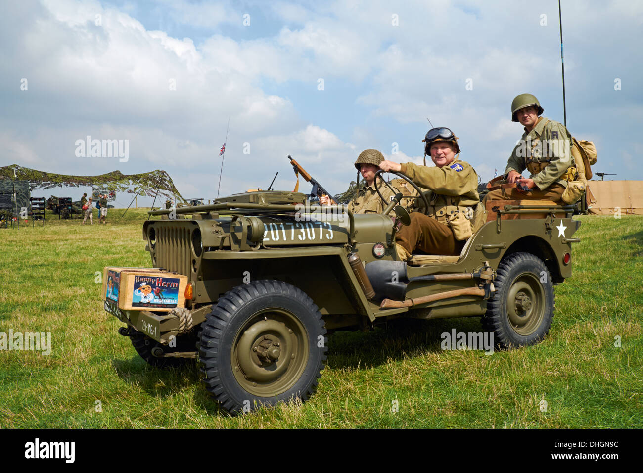 hight resolution of men posing in ww2 us army uniforms in a 1943 willys mb jeep rauceby war