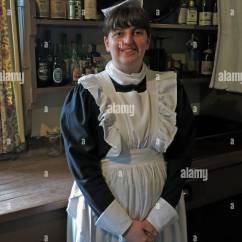 Kitchen Maid Marble Top Island Stock Photos Images Alamy Stately Home Servant Dunham Massey Nt Cheshire England Uk Image