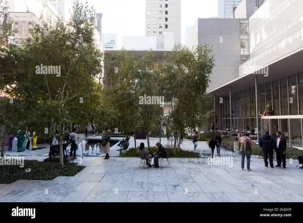 Sculpture Garden Moma Museum Of Modern Art Manhattan