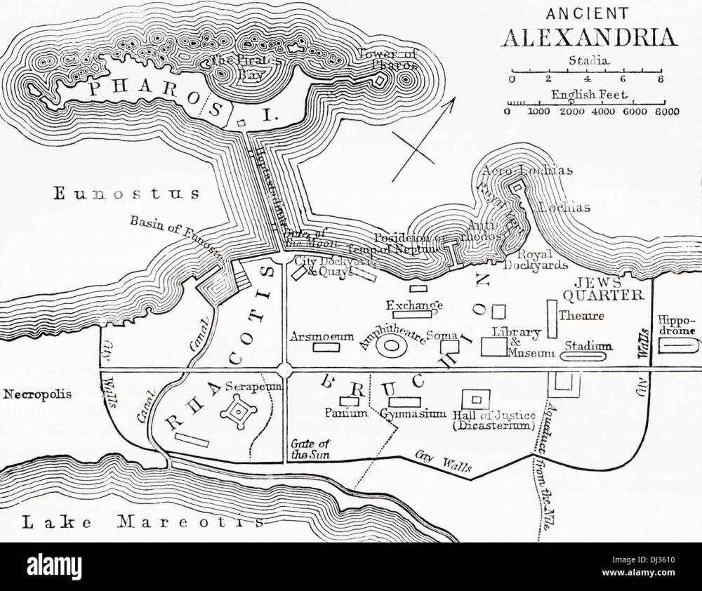 medium resolution of map of ancient alexandria egypt