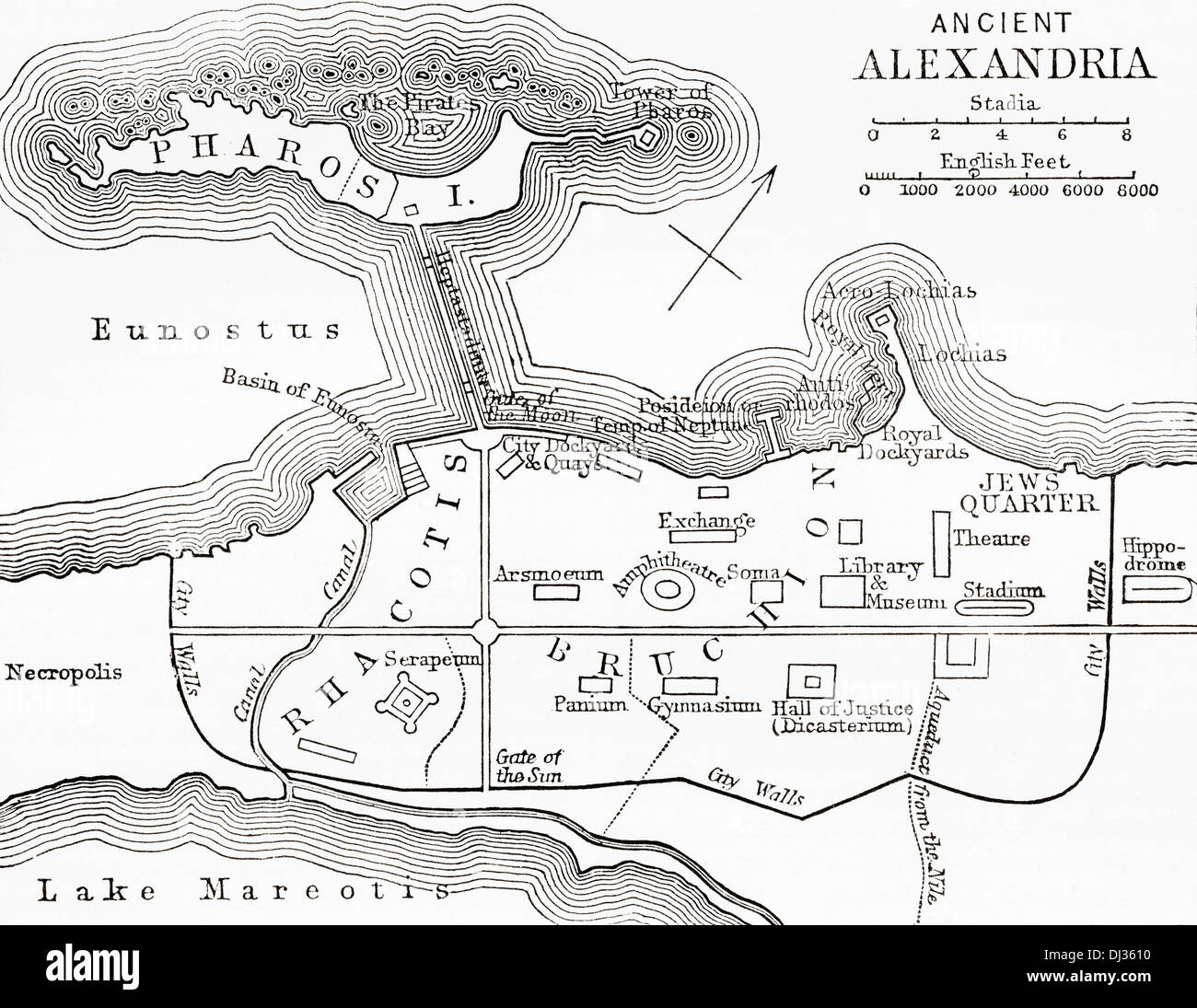 hight resolution of map of ancient alexandria egypt