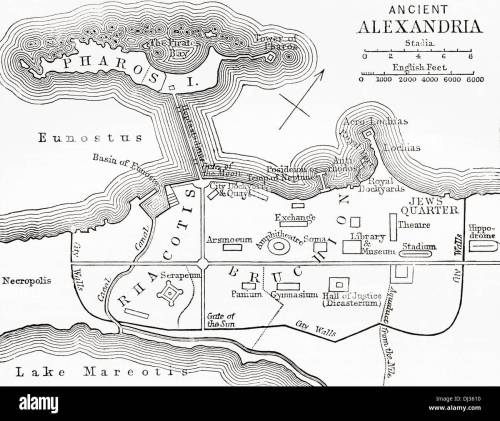 small resolution of map of ancient alexandria egypt