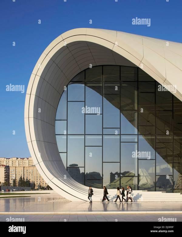 Heydar Aliyev Cultural Center Baku Azerbaijan. Architect