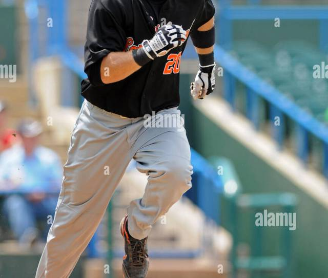July 24 2011 Camden New Jersey United States Of America Long Island Ducks Outfielder Lew Ford Digs For First Base After Making Contact In An Atlantic
