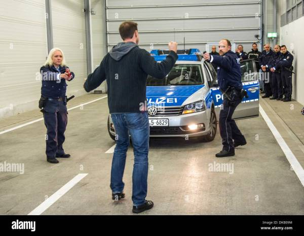 Police Training Center. Officers Learn And Train