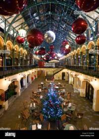 Covent Garden Christmas Decorations, London Stock Photo ...