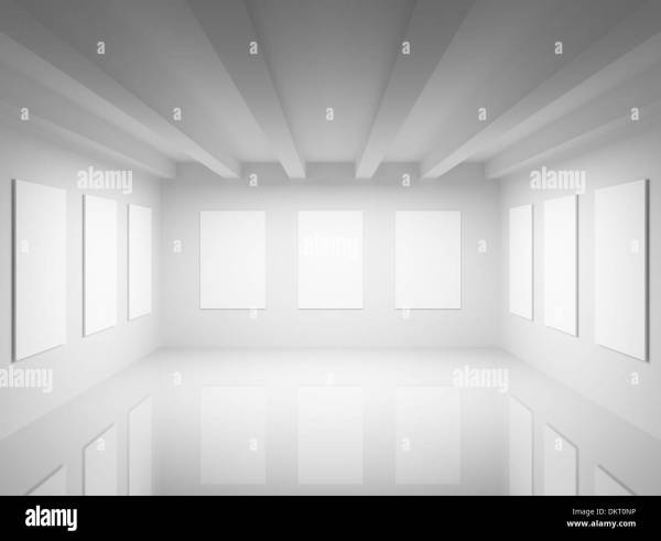 Empty White Art Hall Interior. 3d Illustration Stock 63837026 - Alamy