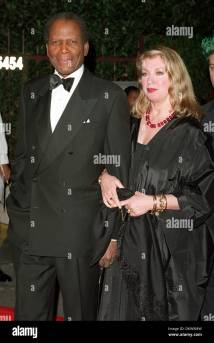 Sidney Poitier And Wife Stock &