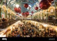 Covent Garden at night before Christmas, London, United ...