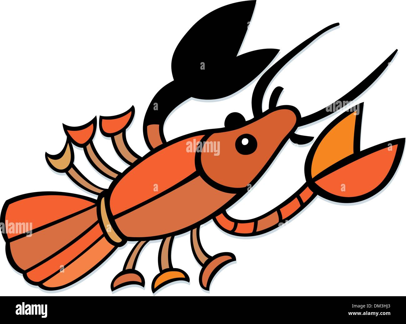 hight resolution of crayfish stock image
