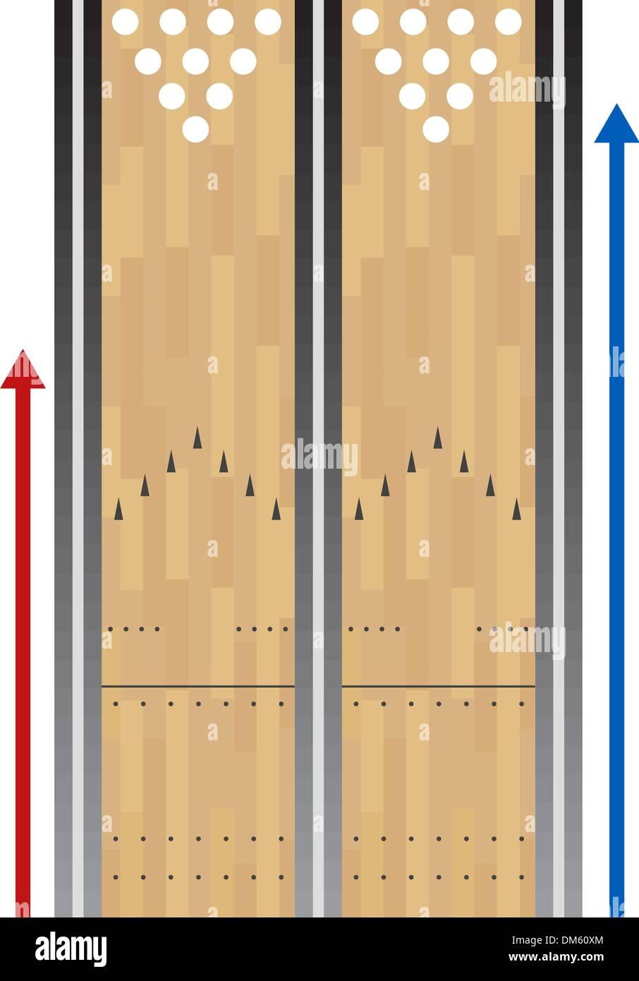 hight resolution of bowling lane chart