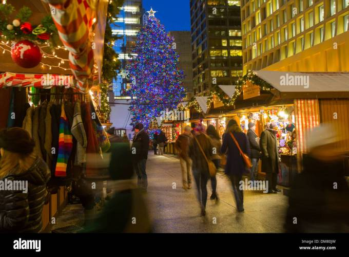 chicago christmas stock photos images alamy