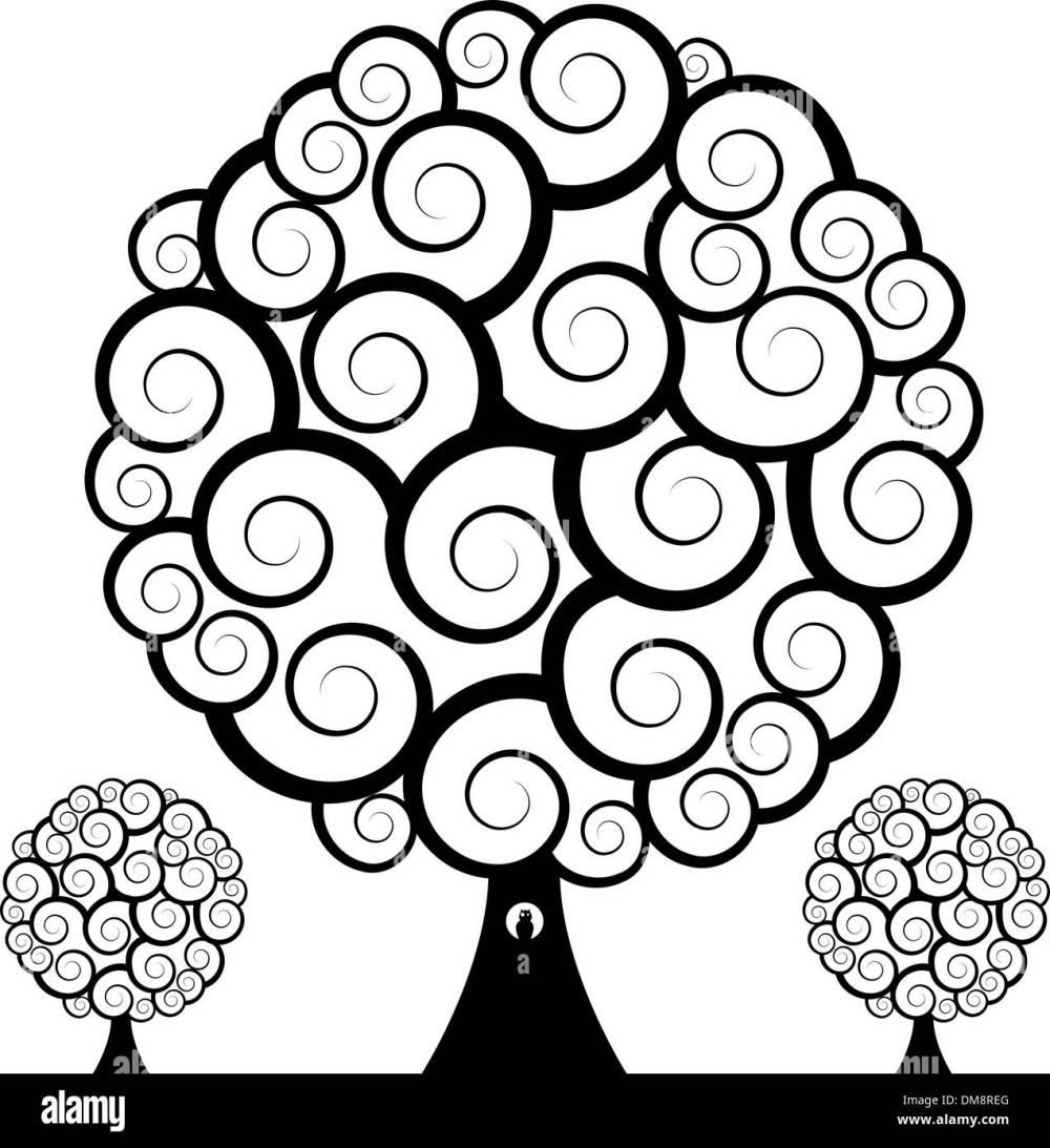 medium resolution of swirl tree owl stock image