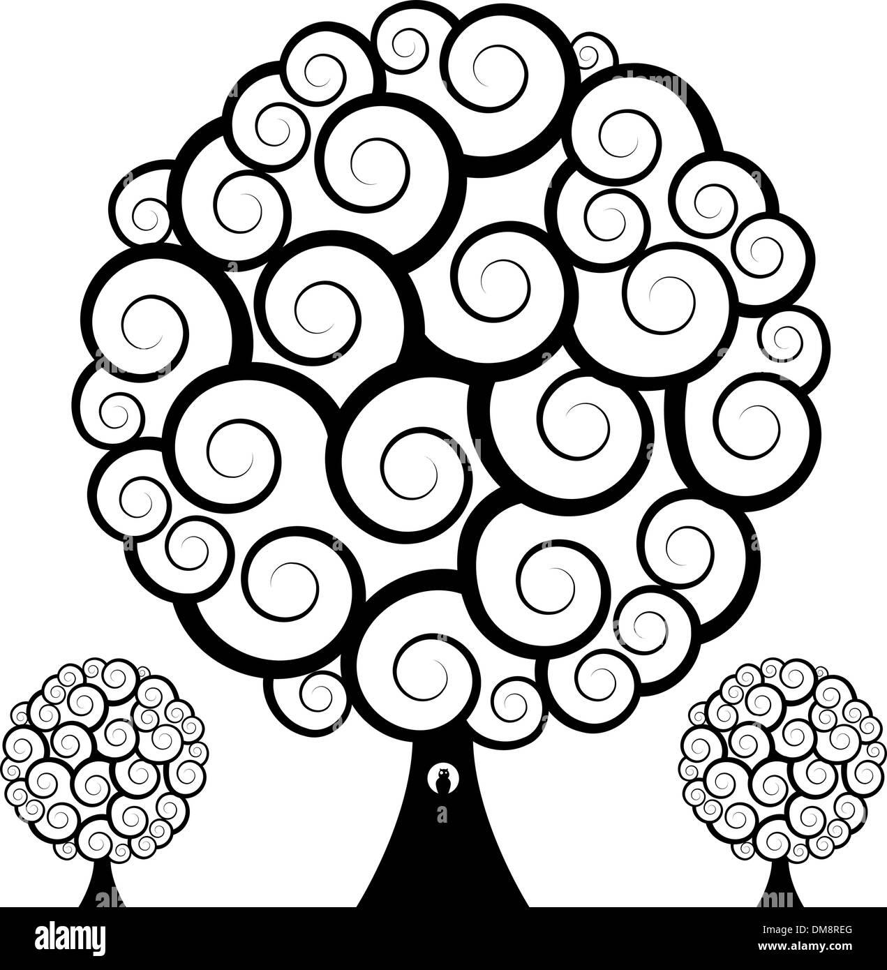 hight resolution of swirl tree owl stock image