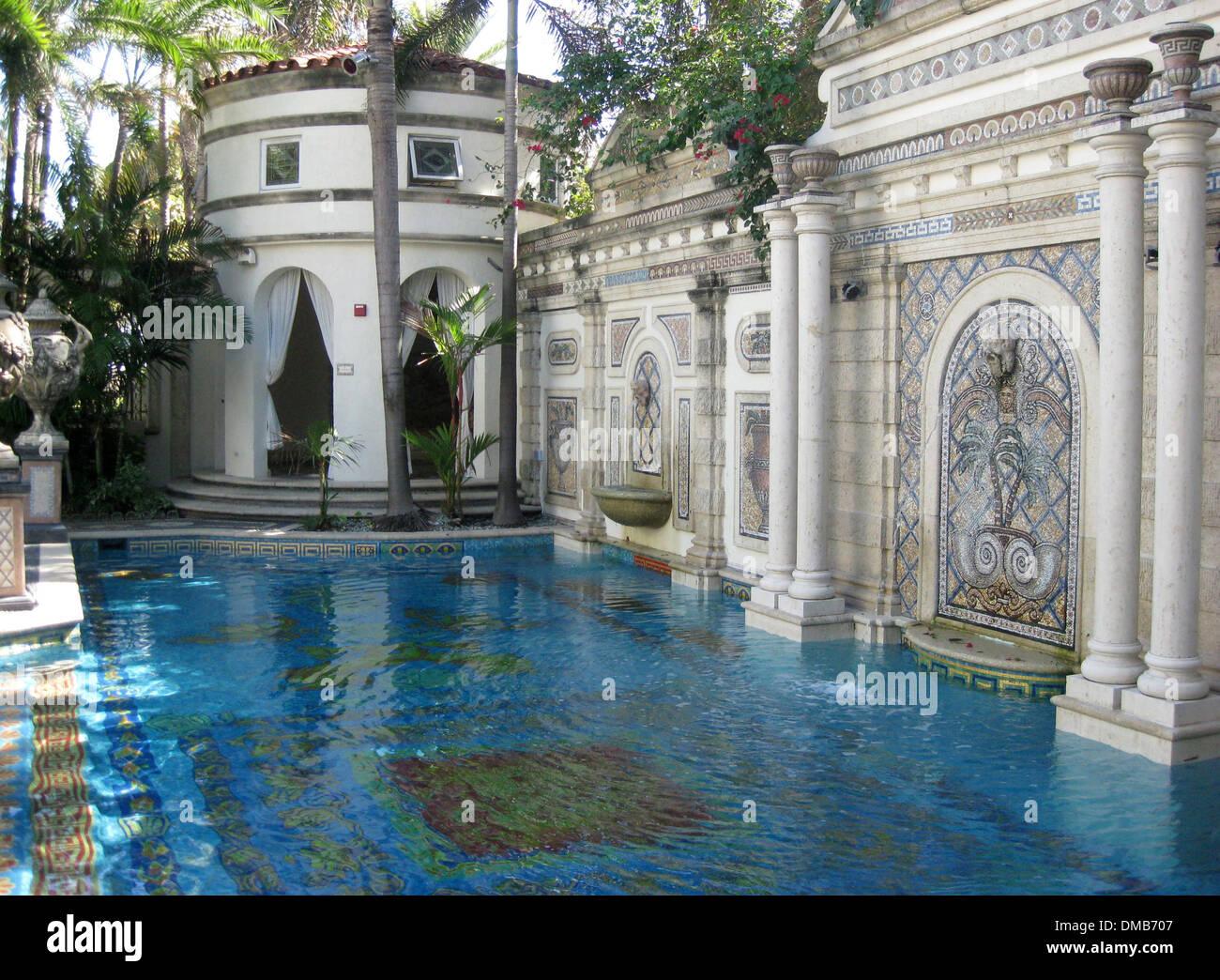 The mer home of Italian designer Gianni Versace Miami mansion Casa Stock Photo Royalty Free