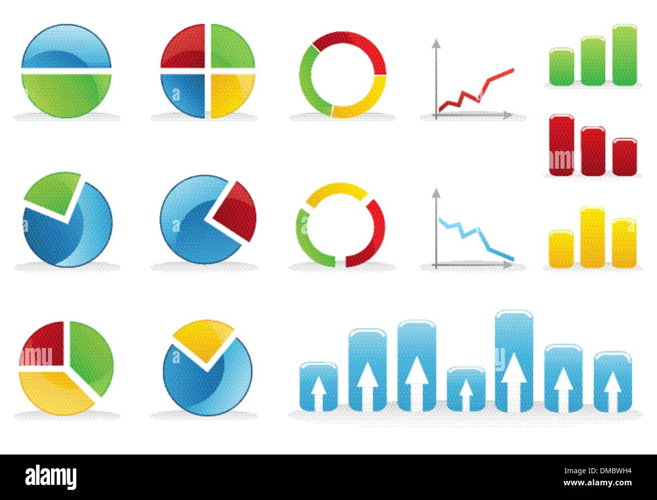 hight resolution of icons of schedules stock image