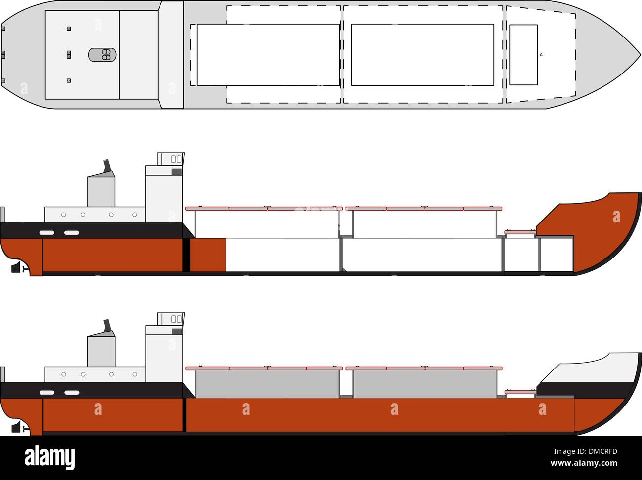 hight resolution of cargo ship with hold details