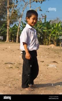 Little Boy Barefoot