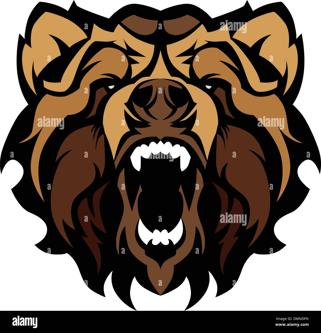 hight resolution of grizzly bear mascot graphic vector illustration stock image