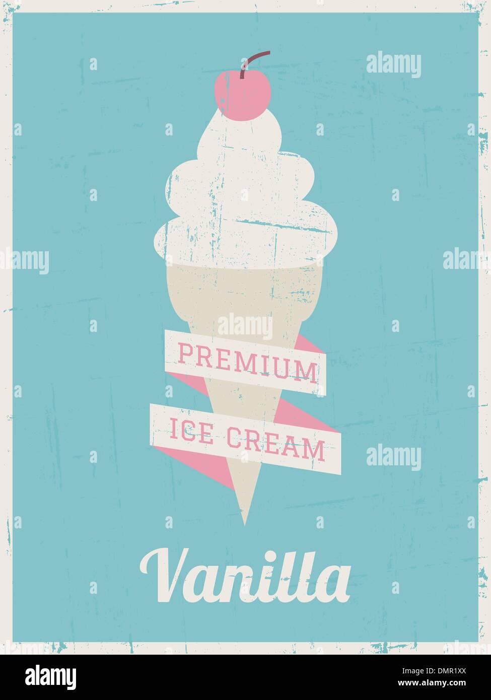 https www alamy com retro ice cream poster image64430658 html