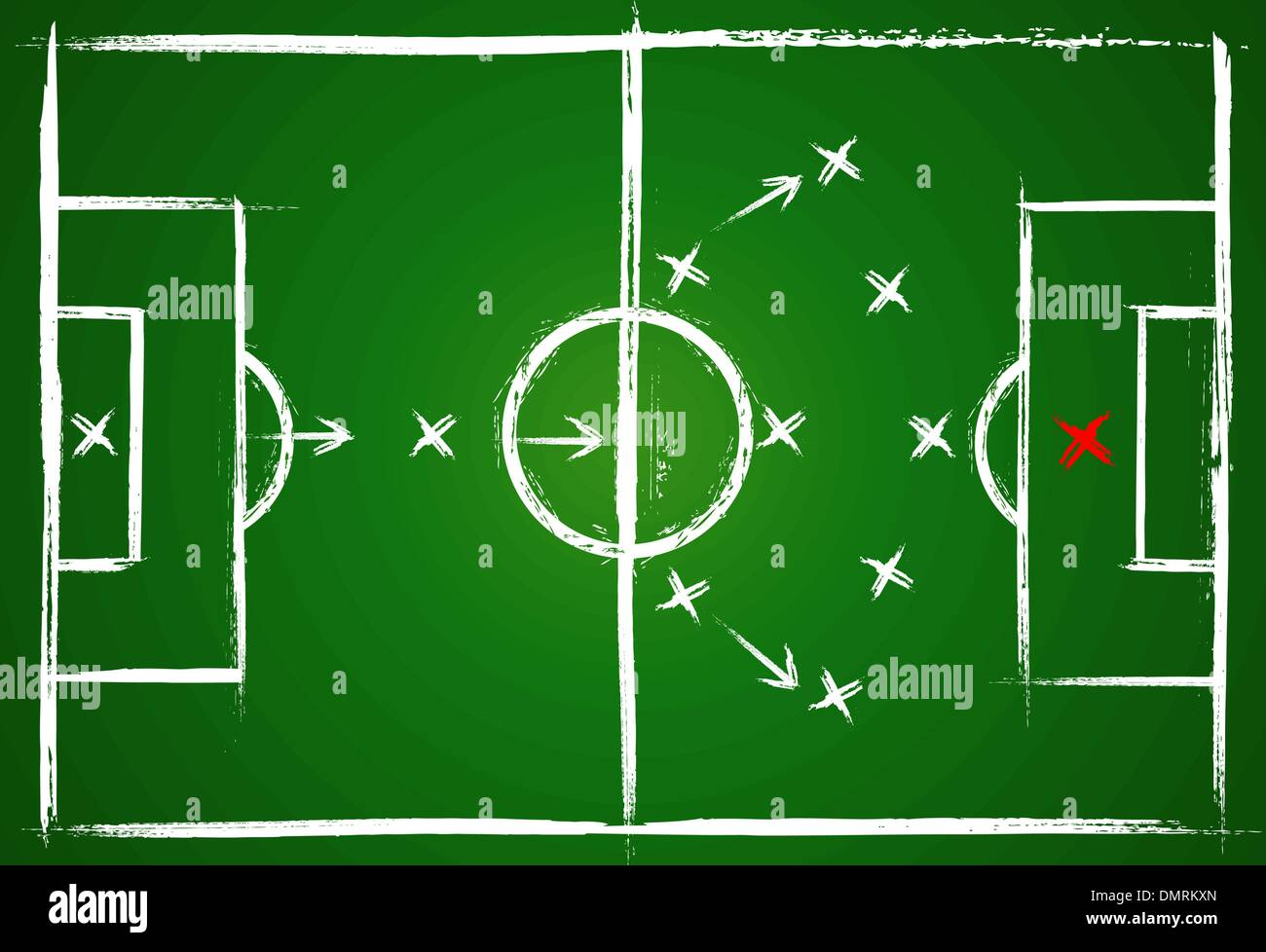 hight resolution of football positions teamwork strategy