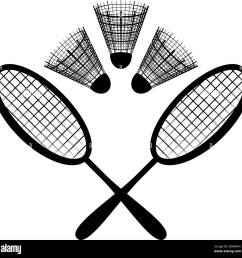 equipment for the badminton silhouette stock image [ 1300 x 1288 Pixel ]
