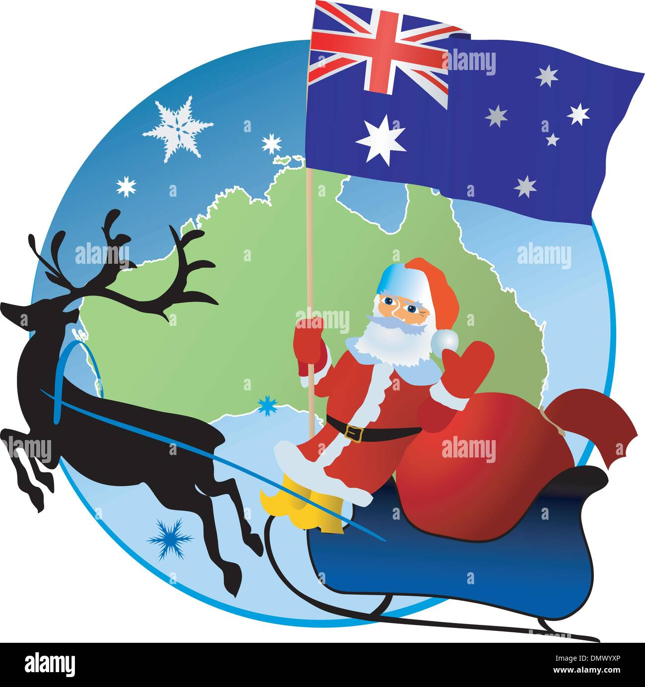 Merry Christmas Australia Stock Vector Art